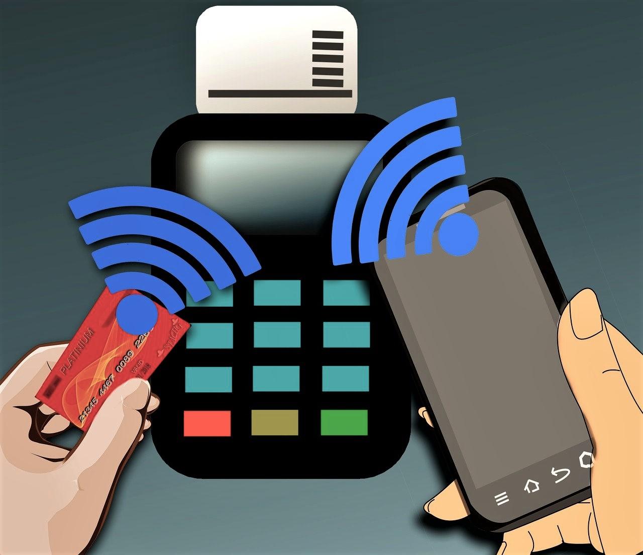 Moderne Zahlungsmethoden mit Bezahlen via Tap & Go oder Smartphone